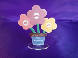 Personalised Acrylic Flower Pot Stand Gift